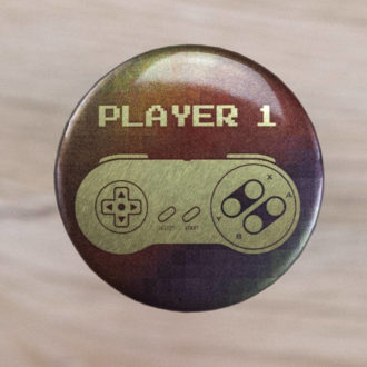 Super Nintendo Player 1 Button Nahaufnahme